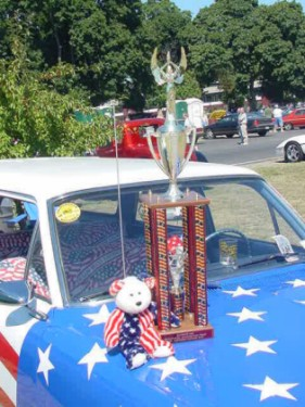 Mark and Nora's trophy.